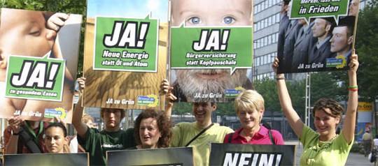 Grüne Parteimitglieder