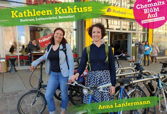 Infostand mit Kathleen Kuhfuß und Anna Lanfermann @ Roter Turm