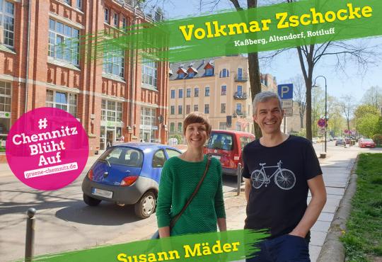 Infostand mit Volkmar Zschocke @ Kaßberg