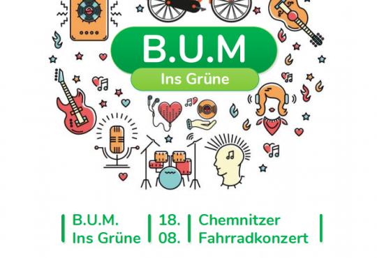 B.U.M. ins GRÜNE - Fahrradkonzert mit GRÜNER Beteiligung @ Start Schloßteichinsel