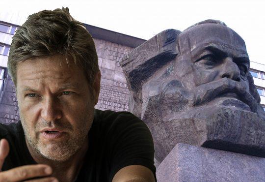 Habeck meets Marx @ Karl-Marx-Monument