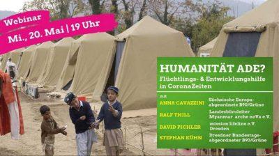 """Webinar: """"Humanität ade? – Europäische Flüchtlings- und Entwicklungshilfe in CoronaZeiten"""" @ Zoom"""