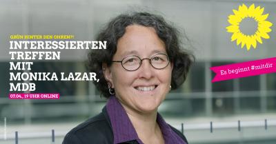 Interessierten-Treffen mit Monika Lazar, Mitglied des Deutschen Bundestags @ Digital