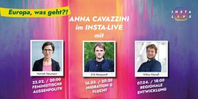 """""""Europa, was geht?"""" - Anna Cavazzini & Erik Marquardt über Asyl - und Migrationspolitik @ Instagram"""