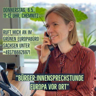 Sprechstunde Europa vor Ort mit Anna Cavazzini, MdEP @ Hermannstr. 6, 09111 Chemnitz | GRÜNES Europabüro