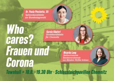 "Townhall mit Ricarda Lang ""Who cares? - Frauen und Corona"" @ Schlossteichinsel"